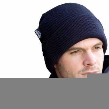 Zachte winter skimuts donkerblauw