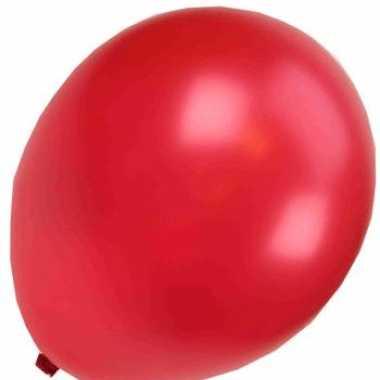Zak rode metallic ballonnen