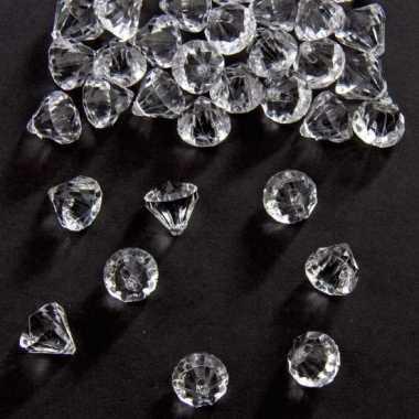 Zakje van 54 gram deco diamantjes transparant 12 mm