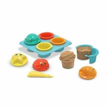 Zandtaartjes speel set cupcake