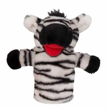 Zebra handpop pluche 23 cm