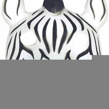 Zebra masker soft foam materiaal