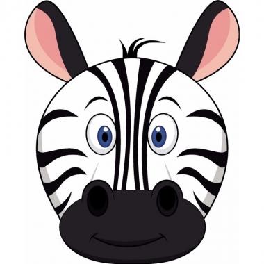 Zebra maskers van karton