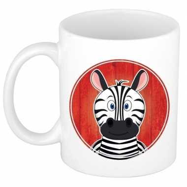 Zebra mok / beker voor kinderen 300 ml