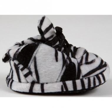 Zebra pantoffeltjes zwart/wit voor babies