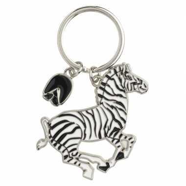 Zebra sleutelhangers 5 cm