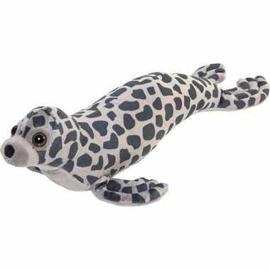 Zeedier knuffel zeehond grijs 44 cm