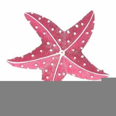 Zeedieren glitter magneetje roze 7.5 cm