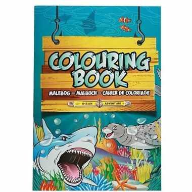 Zeedieren speelgoed artikelen kleurboeken/tekenboeken a4 formaat