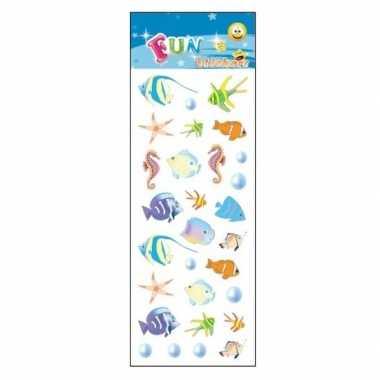 Zeedieren stickervelletje tropische vissen