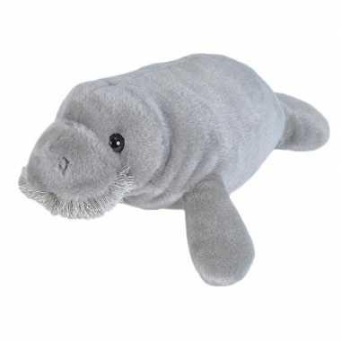 Zeekoeien speelgoed artikelen zeekoe knuffelbeest grijs 25 cm