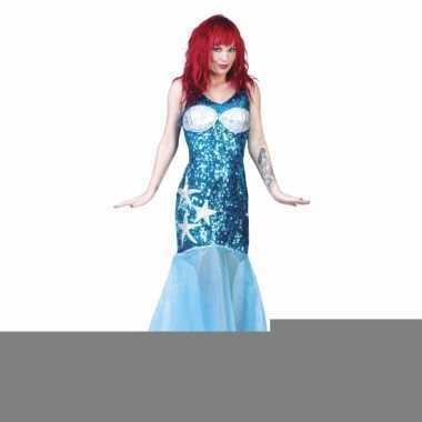 Zeemeerminnen jurk blauw
