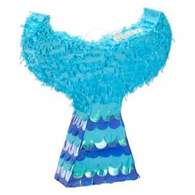 Zeemeerminnenstaart pinata blauw 45 cm