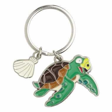 Zeeschildpad sleutelhangers 5 cm