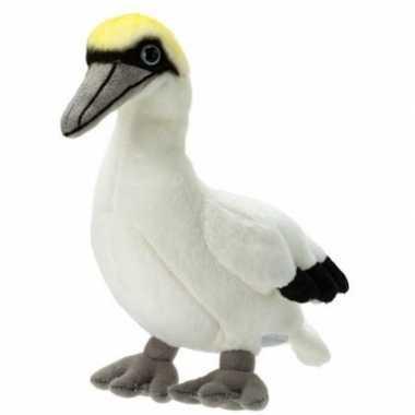 Zeevogel speelgoed artikelen jan-van-gent knuffelbeest wit 17 cm