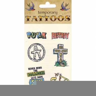 Zes tattoeages punk