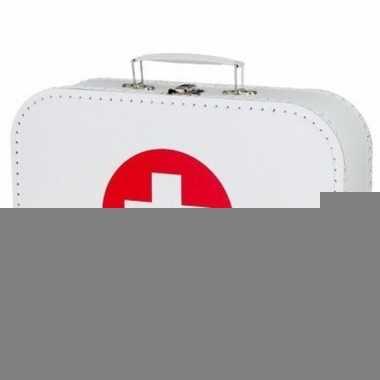 Ziekenhuis accesoires wit koffertje