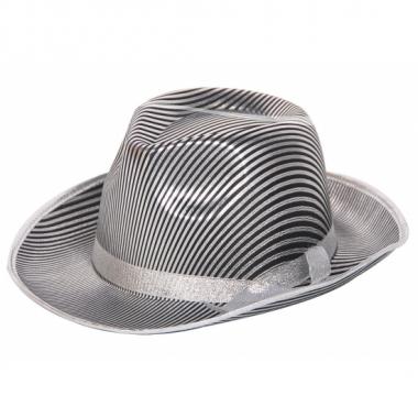 Zilver met zwart gestreepte hoeden