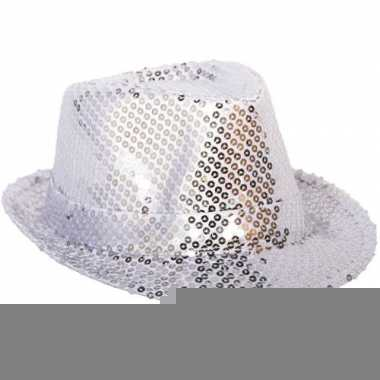Zilveren bling bling hoedjes