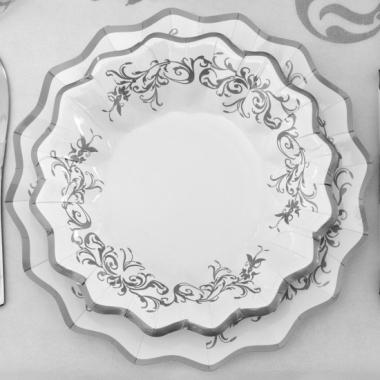 Zilveren bruiloft schaaltjes 24 cm