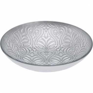 Zilveren decoratie schaal 27 cm