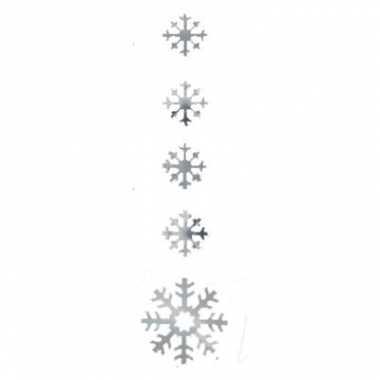 Zilveren decoratie sneeuwvlok 140cm