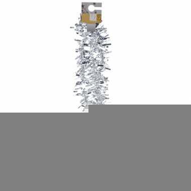 Zilveren folieslinger met sterretjes 180 cm