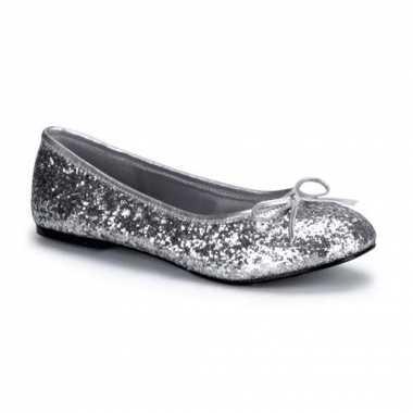 Zilveren glitter flatjes