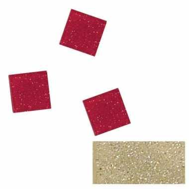 Zilveren glitter mozaiek steentjes 205 st