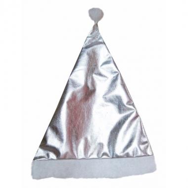 Zilveren kerstartikelen kerstmuts
