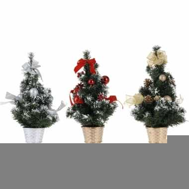 Zilveren kerstboom met decoratie 40 cm