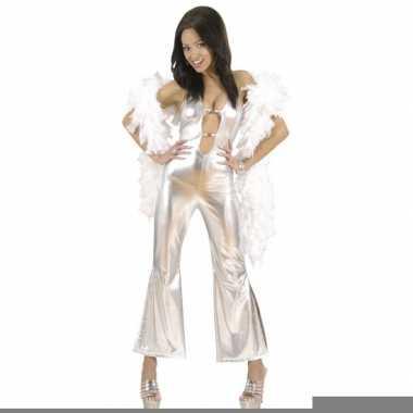 Zilveren kleding jumpsuit