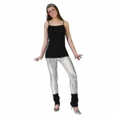 Zilveren legging met puntige gaten