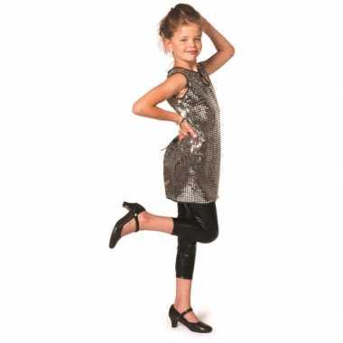 Zilveren pailletten jurkje meisjes