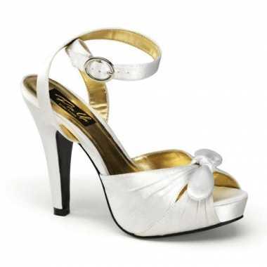 Zilveren peep toe sandalen met hoge hak