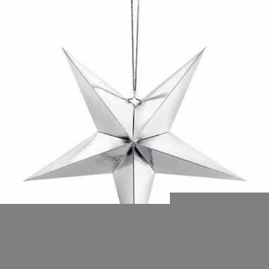 Zilveren ster 45 cm kerst decoratie/versiering