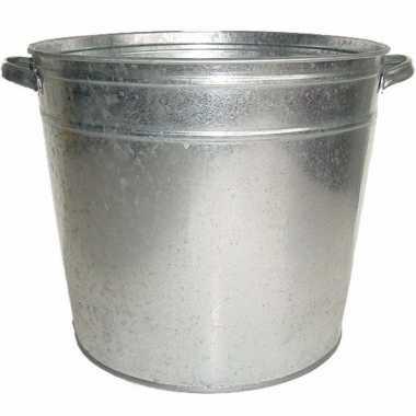 Zilveren zinken drankemmer/drankkoeler 37 liter