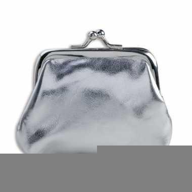 Zilverkleurige dames knip 9.5 x 7.5 cm