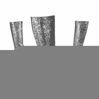Zilverkleurige glitter laarzen