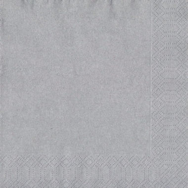 Zilverkleurige servetten 33 x 33 cm