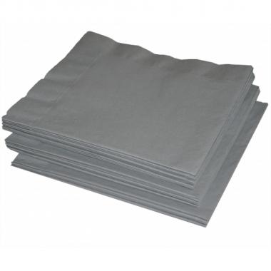 Zilverkleurige servetten 41 cm