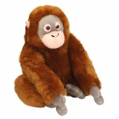 Zittende knuffel aapje 25 cm