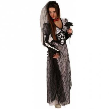 Zombie bruidsjurk zwart voor volwassenen