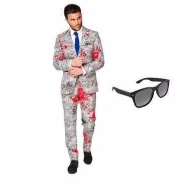 Zombie heren kostuum maat 50 (l) met gratis zonnebril