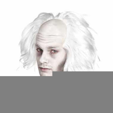 Zombie pruik wit voor heren