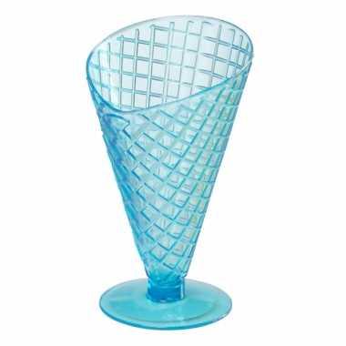 Zomer ijscoupes 9.2 cm blauw