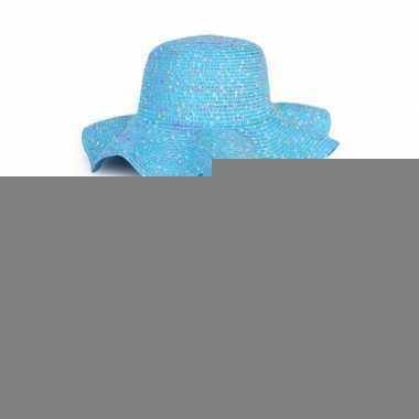 Zomerhoedjes blauw voor dames