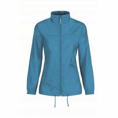 Zomerjasje windjas aquablauw voor dames/vrouwen