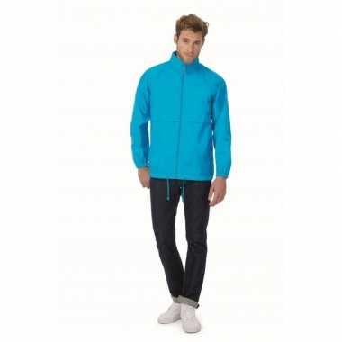 Zomerjasje windjas aquablauw voor heren/mannen