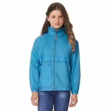 Zomerjasje windjas aquablauw voor meisjes